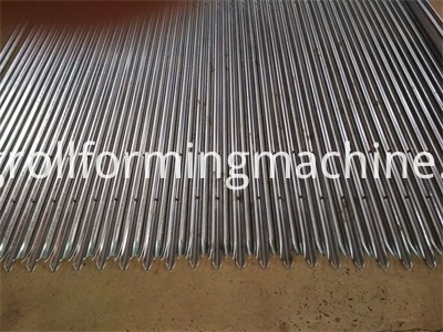 Galvanized Steel Profile Palisade Pales Fence Machine