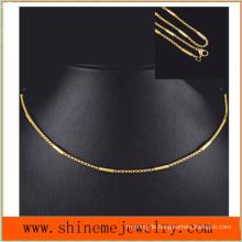 Heiße verkaufende Edelstahl-Halsketten-Art- und WeiseTitan-Männer und Frauen mit Vakuumüberzug (SSNL2632)