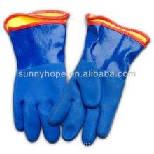 Sandige PVC-Handschuhe mit abnehmbarem Innenfutter