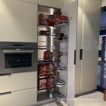 Cesta de elevador ajustável de fechamento suave para cozinha