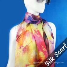 Habotai Long Silk Scarf para Mujeres