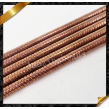Античная латунная медь Rondelle бусы, медные диски Heishi драгоценных камней бусы ювелирные изделия (GB0132)