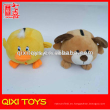 Animal de dibujos animados forma brown dog toy felpa ahorro de dinero ollas