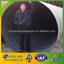 Diámetro grande API 5L X70 PSL2 Tubo de acero espiral soldado