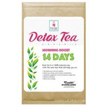 Chá orgânico do Detox Herbal que Slimming o chá da perda do peso do chá (chá do impulso da manhã de 14 dias)