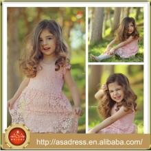 SMA60 Pretty Princess niños rosa vestido de baile Angel Lace corto de los niños vestidos de novia