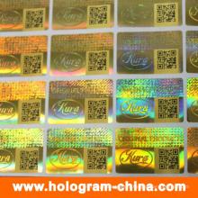 Безопасности 3D Лазерная голограмма наклейки с QR-код печать
