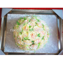 2014 hot new artificial silk flower ball kissing rose ball for party wedding decor
