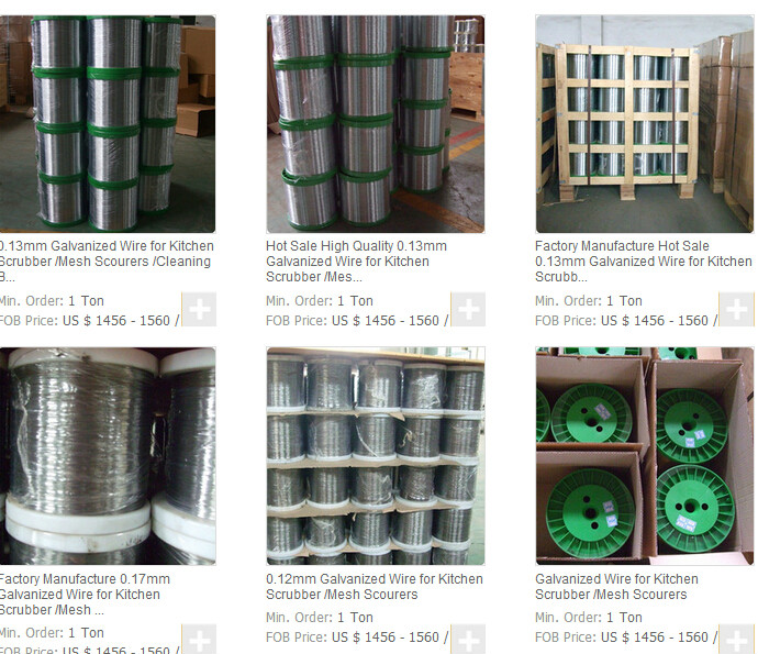 Price list of Galvanized round wire for cleaning ball