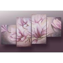 Handmade обрамленная картина маслом цветка для домашнего декора (FL4-200)