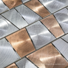Luxurious Aluminum Metal Mosaic Tile For Living Room Wall