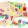 Venda quente bloco de madeira cubo puzzle 3d dominó