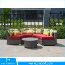Factory Directly Half Round Sectional Curved Rattan Sofa
