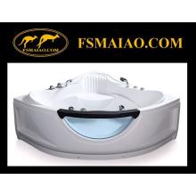 Cuarto de baño de esquina de baño de acrílico de masaje (BA-8607)
