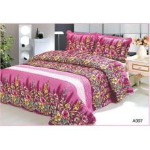 3pcs N/T taffeta+microfiber printed quilted bedspread set