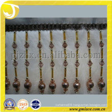 Newly designed tassel trim fringe with long ornament for curtain fringe,long fringe