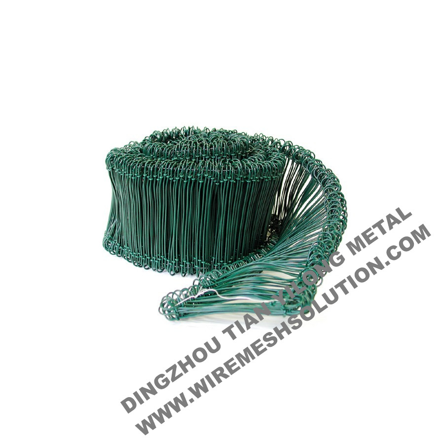 Green PVC Coated Double Loop Steel Tie Wires