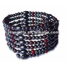 """Bracelet enrubé magnétique Rutile en perles et collier 36 """""""