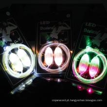 Atacado Light Up Shoelaces Shoelaces LED de plástico