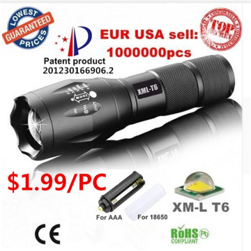 Most Powerful Rechargeable CREE Zoom LED Flashlight Torch