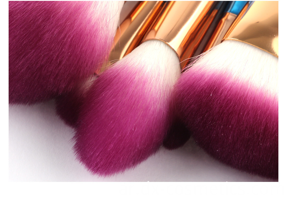 10 Pcs Diamond Rose Gold Makeup Brushes Sets 2