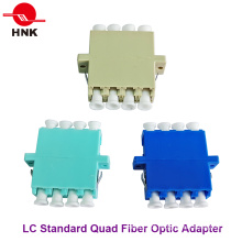 LC Quad Singlemode, Multimodo, Om3 e Adaptador de Fibra Óptica APC