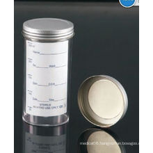 250ml Sample Containers with Metal Cap and Printed Label