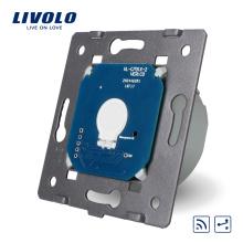 Fabricant Livolo Standard UE 1 Gang 2 Voies Télécommande Murale Funtion Interrupteur à Écran Tactile Sans Panneau De Verre VL-C701SR