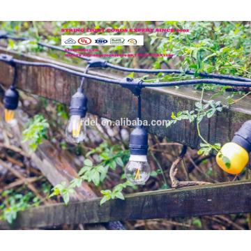 SLT-127 110V Tension Agrandir l'image Certification UL led Edison chaîne lumières décoration pvc chaîne lumière cordon d'alimentation UL