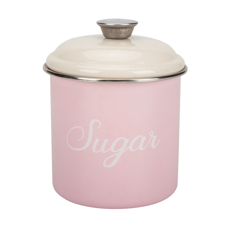 Pink Tea Sugar Coffee Canister