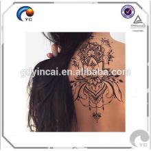 Nuevamente etiqueta engomada temporal del tatuaje de la alheña henna estilo bohemio tatuaje del arte del cuerpo humano en buena calidad