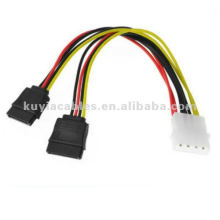 SATA Power Splitter y Cable 4PIN MALE À 2X SATA Dual Female Power Adapter