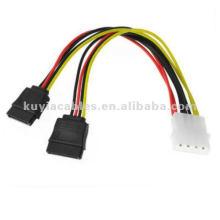 Разветвитель питания SATA y кабель 4PIN MALE К 2X SATA двойной женский адаптер питания
