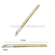 Crayon professionnel des lames de maquillage permanent pour les sourcils, stylo à microdiffusion manuel