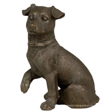 Animal Bronze Sculpture Dog Carving Decor Brass Statue Tpy-654