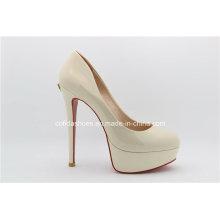 Sexy High Heel Plattform Leder Frauen Schuhe