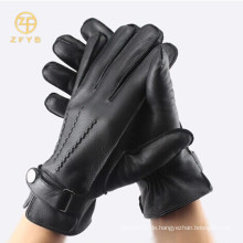 Hochwertige, ungefütterte Herrenhandschuhe aus Leder