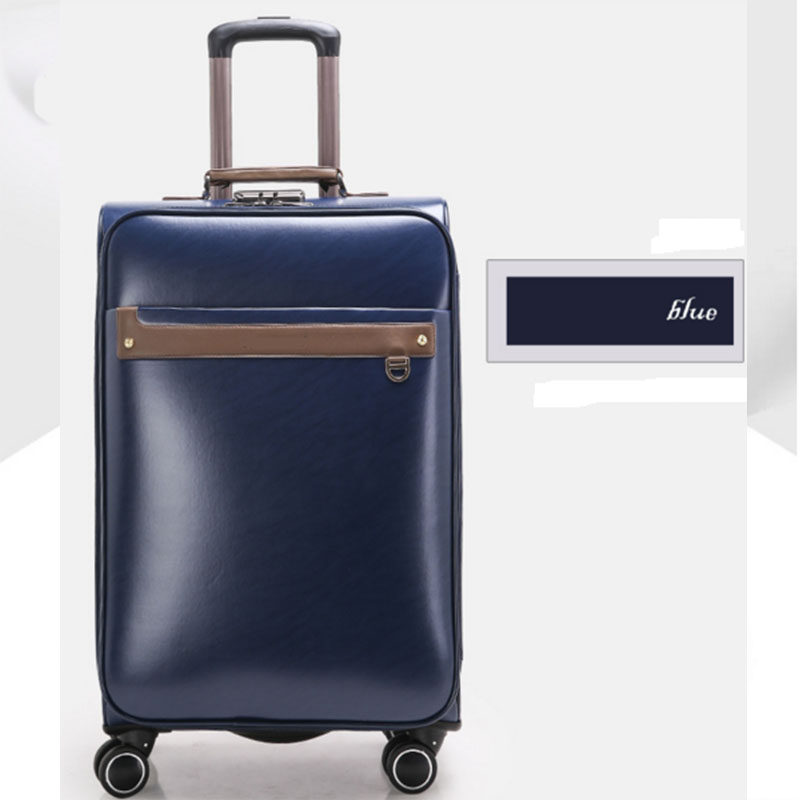 Blue Pu Luggage