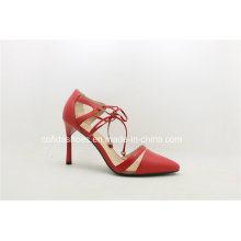 2017ss Latest Red Color Sexy Lady High Heel Women Shoes