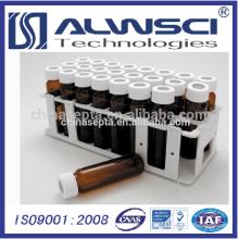 White PP Vial Rack para 40ML EPA VOA Vial
