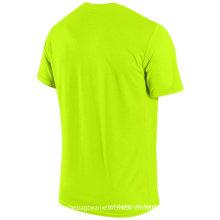Kundenspezifisches leeres Microfiber Dri-Sitz T-Shirt für Förderung