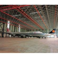 Construction d'un hangar d'avions