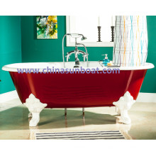 Sunboat Freistehende Badewanne / Emaille Gusseisen Badewanne / Europäische Große Badewanne / Badewanne