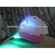 Fashion flash light caps with embroidery logo design