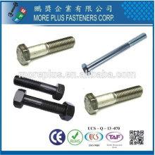 Taiwán Acero inoxidable 4.8 DIN931 ISO4014 ANSI B18.2.3.1M Sechskantschrauben Tornillo de cabeza hexagonal Parcialmente medio tornillo hexagonal