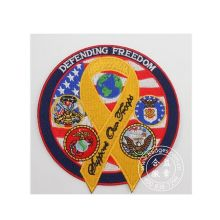 Emblema do bordado da liberdade, remendo tecido redondo redondo (GZHY-PATCH-010)