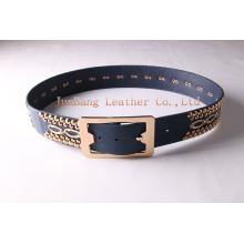 Fashion Custom Women Waist PU Belt with Rivets