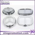 Caixa de pílula de metal slide personalizada decorativa com chaveiro em massa