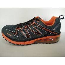 Orange Mesh Sports Shoes Footwear
