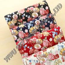 Mode große Blume Designs für Damen Kleid Druck Microfiber Fabric